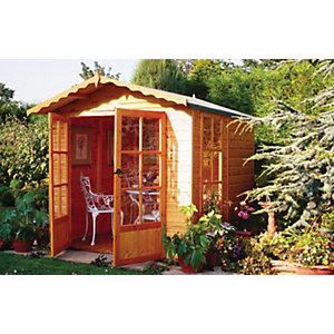 Wickes Double Door Buckingham Summerhouse - 7 x 7 ft