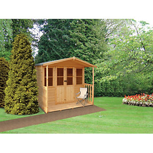 Wickes Houghton Double Door Summerhouse with Veranda - 7 x 7 ft