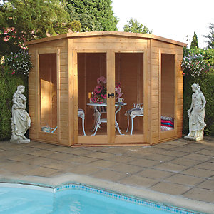 Wickes Barclay Double Door Corner Summerhouse - 7 x 7 ft