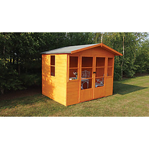 Wickes Milton Double Door Timber Summerhouse - 8 x 6 ft