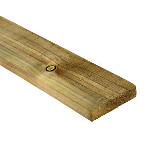 Wickes Treated Sawn Timber - 19mm x 100mm x 2.4m