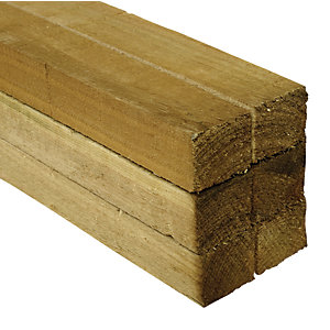 Wickes Treated Sawn Timber - 47 x 47 x 2400mm - Pack of 6