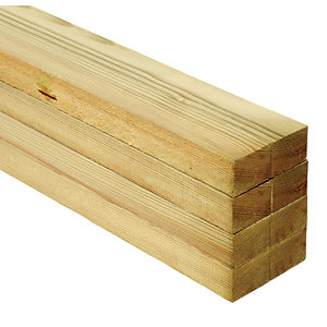 Wickes Treated Sawn Timber - 25 x 38 x 2400mm - Pack of 8
