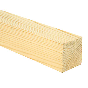Wickes Whitewood PSE Timber - 69 x 69 x 2400mm