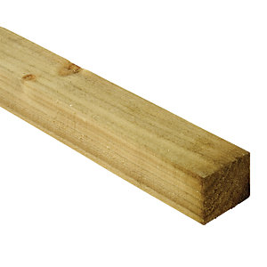 Wickes Treated Sawn Timber - 38mm x 47mm x 2.4m