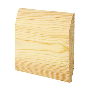 Wickes Dual Purpose Chamfered/Ovolo Pine Skirting - 20.5mm x 144mm x 2.4m