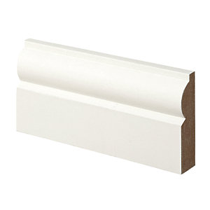 Wickes Torus Primed MDF Architrave - 18mm x 69mm x 2.1m Pack of 5