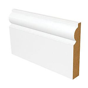 Wickes Torus Fully Finished MDF Skirting 18 x 119 x 3600mm Pack 4