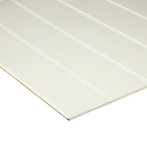 Wickes Medium Density Fibreboard (MDF) Primed Beaded Panel - 6 x 607 x 1829mm