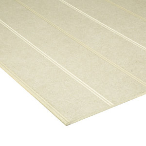 Wickes Beaded Medium Density Fibreboard (MDF) Panel - 6 x 607 x 1220mm