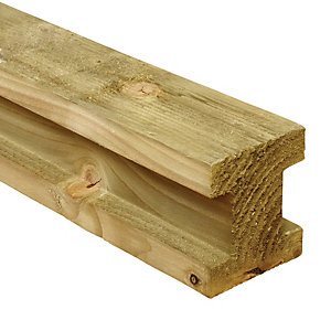 Wickes H Shaped Slotted Timber Fence Post - 90 x 90mm x 2.4m