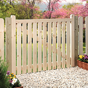 Image of Wickes Timber Slatted Timber Gate Kit - 1206 x 914 mm