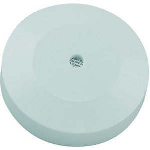 Wickes 3 Terminal & Earth Ceiling Rose - White