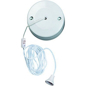 Wickes 6A Pull Cord Ceiling Switch 2 Way