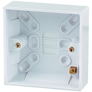 Wickes 1 Gang Pattress Box - White 25mm