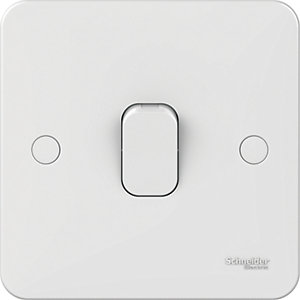 Lisse 1 Gang 2 Way Light Switch - White