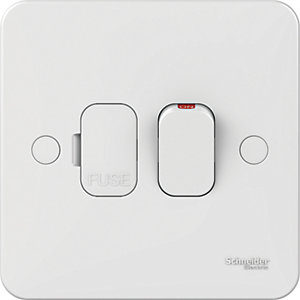 Lisse 13A Double Pole Switched Fused Connection Unit - White