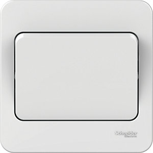 Lisse 10AX 1 Gang 2 Way Light Switch - White