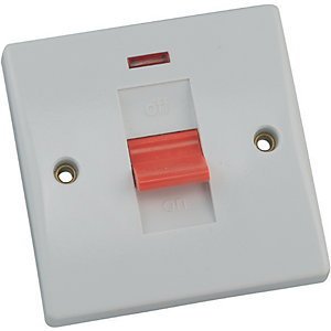 Schneider Ultimate 50 Amp 1 Gang Control Switch & Neon Indicator
