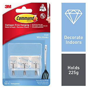 Command Clear Wire Utensil Hooks - Pack of 3