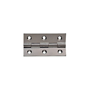 Wickes Butt Hinge - Solid Brass Chrome Plated 63mm Pack of 2