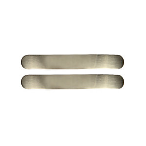Wickes Curved Pull Door Handle - Brushed Nickel 112mm Pack of 2
