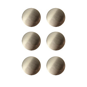Wickes Victorian Door Knob - Brushed Nickel 38mm Pack of 6