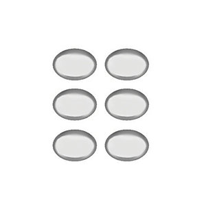 Wickes Oval Door Knob - Polished Chrome 33mm Pack of 6