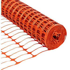 Wickes Barrier Fencing Orange - 1m x 50m