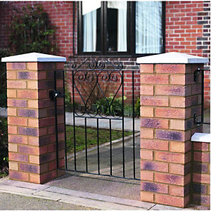 Wickes Chelsea Bow Top Steel Gate Black - 838 x 900 mm