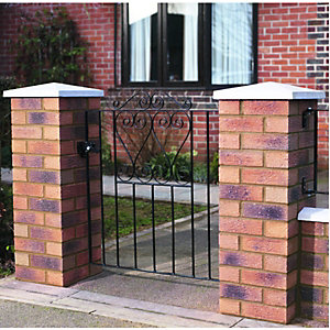 Wickes Chelsea Bow Top Steel Gate Black - 991 x 900 mm