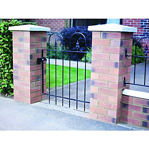 Wickes Kensington Steel Gate Black - 914 x 914 mm