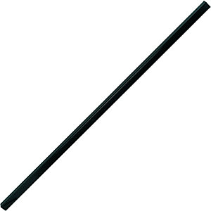 Wickes Chelsea Bow Top Steel Gate Post Black - 50 x 1980 mm