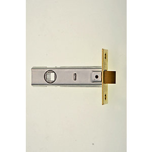 Wickes Tubular Door Latch - Brass 76mm