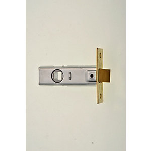 Wickes Tubular Door Latch - Brass 64mm