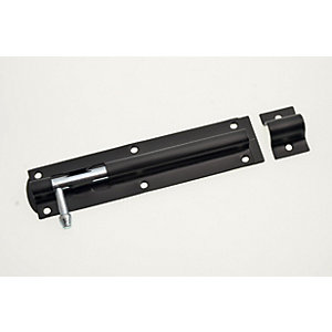 Wickes Tower Bolt - Black 152mm