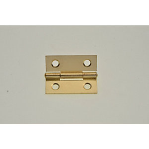 Wickes Butt Hinge - Brass 38mm Pack of 2