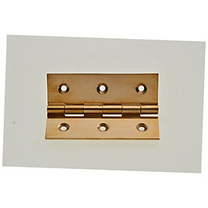 Wickes Butt Hinge - Solid Brass 76mm Pack of 3