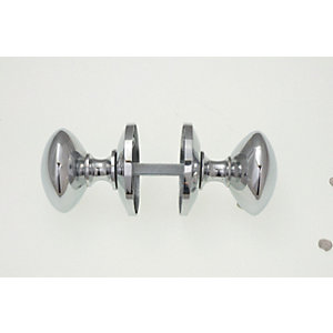 Wickes Victorian Mortice Door Knobs Set - Chrome 1 Pair