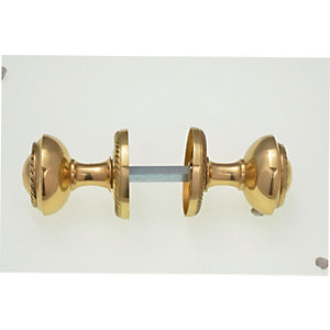 Wickes Georgian Mortice Knob Polished Brass