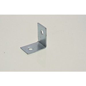 Wickes 25mm Zinc Plated Angle Bracket Pack 4