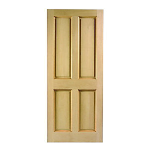 Wickes London External Oak Door 4 Panel 2032x813mm