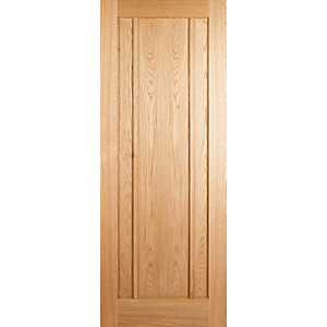 Wickes York Oak 3 Panel Internal Fire Door