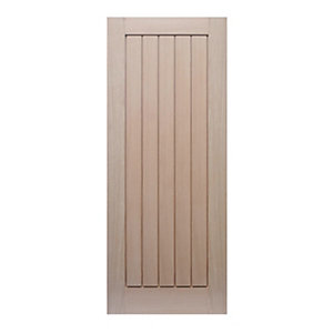 Wickes Geneva Oak Cottage Internal Fire Door - 1981mm x 838mm