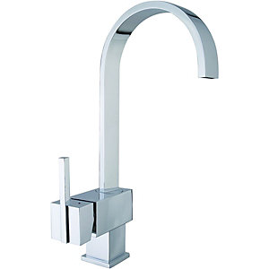 Wickes Callis Single Lever Kitchen Mixer Sink Tap - Chrome