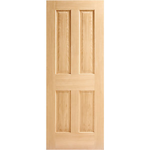 Wickes Cobham 4 Panel Oak 4 Panel Internal Fire Door