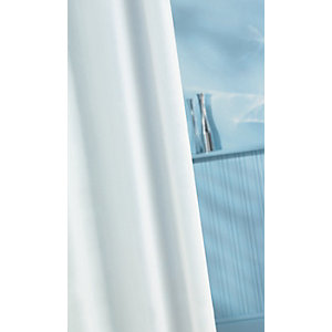 Wickes PVC Shower Curtain - White