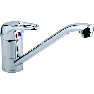 Wickes Messina Monobloc Kitchen Sink Mixer Tap - Chrome