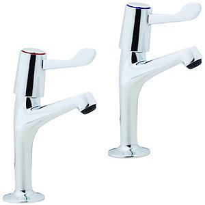 Wickes Modena Pillar Kitchen Sink Taps - Chrome