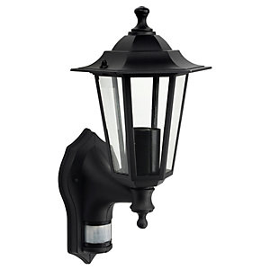 Wickes Black PIR Wall Lantern - 60W